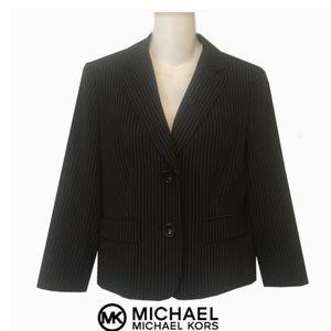 MICHEAL Micheal Kors Cropped Pin Stripe Jacket